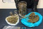Operaio di Amaroni arrestato per spaccio, sequestrati 440 grammi di marijuana