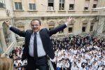 Cateno De Luca alla scuola Duilio di Messina: le foto dell'incontro con gli studenti