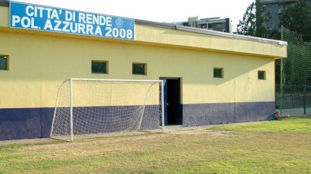 calciatori Rende, campo Azzurra, campo di calcio Rende, Cosenza, Calabria, Cronaca