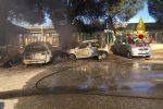 Rogo di auto alla stazione di Milazzo, le immagini dei soccorsi - Foto
