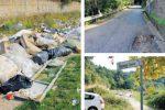 Strade dissestate e invase da rifiuti a Lamezia: non si salva nemmeno il centro