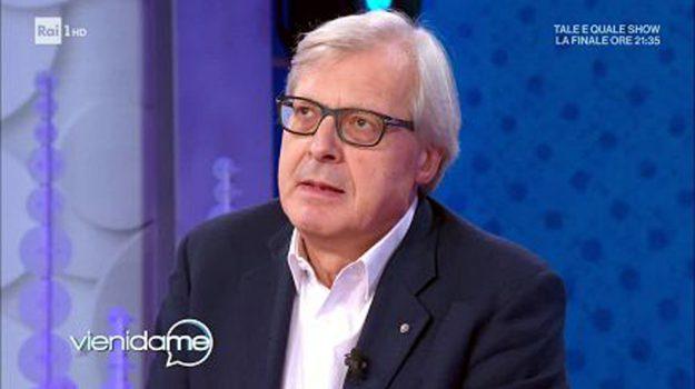 tv, Vieni da me, Vittorio Sgarbi, Sicilia, Società