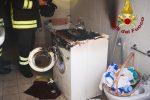 Paura per una lavatrice in fiamme in un appartamento a Crotone - Video