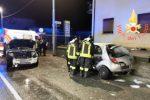 Incidente nella notte a Catanzaro, scontro tra due auto: un ferito