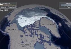L'Artico si scioglie: il video in time-lapse è allarmante Il ghiaccio marino dell'Artico si riduce e si assottiglia sempre di più - CorriereTV