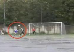 Serie D, lo scorpione «alla Ibra» nel fango Il gol di Gianni Caliano dell'Azione Cattolica Piano, squadra della seconda categoria campana - CorriereTV