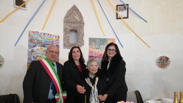 alcara li fusi, centenario, Concetta Natalone, Messina, Sicilia, Società