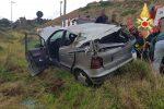 Auto si ribalta e finisce in una scarpata, tre feriti nella zona sud di Catanzaro