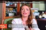 """Minacce via social a Jasmine Cristallo, la leader delle sardine calabresi: """"Non mi fate paura"""""""