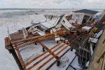 Maltempo a Messina, costa tirrenica flagellata: stabilimenti distrutti