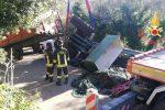 Giovane morto nell'incidente sul trattore a San Pietro a Maida, le foto dei soccorsi