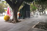 """Messina, rimosso il """"tendone delle polemiche"""" di piazza Cairoli"""