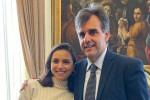 Il rettore Cuzzocrea con la studentessa Giulia Greco