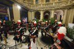 La galleria Vittorio Emanuele a Messina fa da scena al concerto della Fanfara dei carabinieri