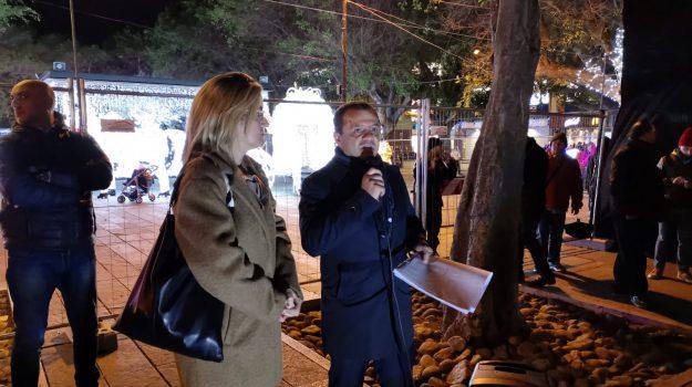 natale, piazza cairoli, Cateno De Luca, Messina, Sicilia, Politica
