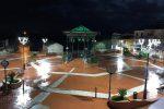 Filogaso, il gazebo di piazza Sant'Agata si illumina di verde per Giuseppe Iozzo