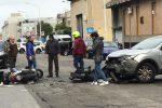 Incidente stradale in via Orso Corbino a Messina, auto contro moto: ferito un 62enne