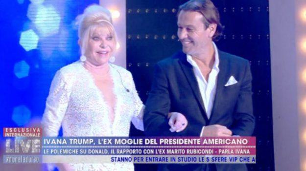 Live-Non è la D'Urso, tv, Ivana Trump, Sicilia, Mondo