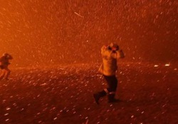 Le fiamme si stanno avvicinando pericolosamente a Sydney Una decina di fuochi hanno bruciato un totale di 300mila ettari e si sono uniti a circa 50 chilometri a nord della città australiana - CorriereTV