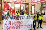 I borsisti di Messina Servizi protestano a Palazzo Zanca e chiedono incontro con sindaco