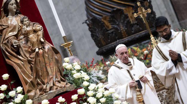chiesa, messa, natale, vaticano, Papa Francesco, Sicilia, Cronaca