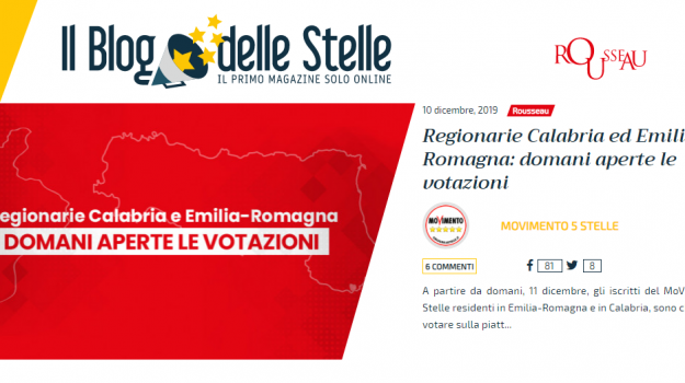 m5s, regionali in calabria, regionarie, Calabria, Politica