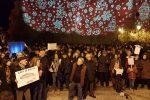 """""""Reggio non si lega"""", 500 sardine al sit in di piazza Castello - Foto"""