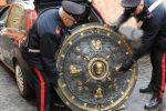 Scudo di Garibaldi ritrovato a Roma, dono del popolo siciliano per sbarco dei Mille