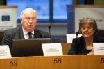 Karl-Einz Lambertz con la commissaria Ue Elisa ferreira - fonte: CdR