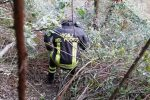 Cardeto, finisce in un burrone per salvare il suo cane: salvato dai vigili del fuoco