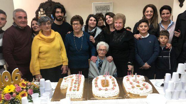 centenari, Maria Currò, Messina, Sicilia, Cronaca