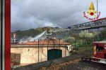 Incendio a Nocera Terinese, in fiamme una villetta