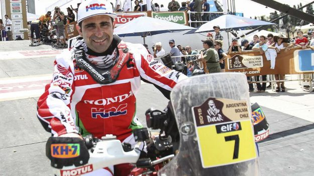 Dakar, motociclista, rally, Paulo Goncalves, Sicilia, Sport