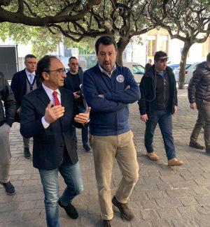 """Salvini elogia il lavoro di Abramo: """"Ha idee chiare, modello Catanzaro da esportare"""""""