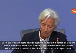 "Bce, Lagarde: ""Tassi rimangono invariati"" Le parole del presidente della BCE - Agenzia Vista/Alexander Jakhnagiev"