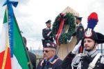 Commemorati i carabinieri ammazzati dalla 'ndrangheta in un piazzale della Salerno-Reggio Calabria