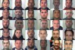 Blitz con 35 arresti a Catania, nomi e foto