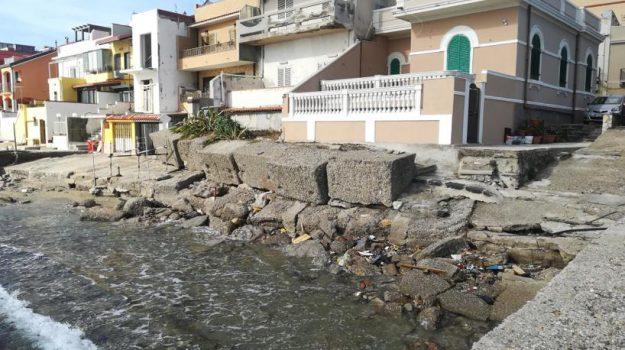 costa, frangiflutti, mare, Messina, Sicilia, Cronaca