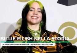 Grammy Awards, trionfa Billie Eilish: è nella storia Al quinto Grammy Awards è la vincitrice più giovane - Ansa