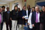 """Nemo Sud, lo Juventus Club """"John Charles"""" di Messina e Milena Bertolini in visita al centro clinico"""