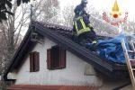 A fuoco il tetto di una casa a Torre di Ruggiero, immobile danneggiato
