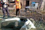 Incidente a Messina, finisce con lo scooter su una catasta di legno: ferito