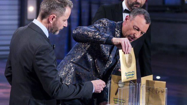 lotteria italia, premio, Amadeus, Sicilia, Cronaca