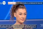 """Frasi choc al GFVip, la moglie di Veneziano si scusa in tv: """"Ha sbagliato, ma non è un violento"""""""