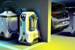 Volkswagen, si studia robot per ricarica nei parcheggi