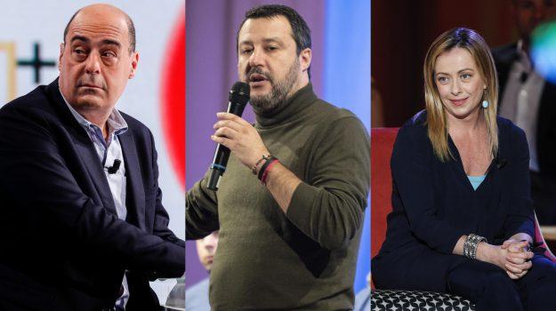 regionali calabria, Carlo Tansi, Francesco Aiello, giorgia meloni, Jole Santelli, Matteo Salvini, Nicola Zingaretti, pippo callipo, Calabria, Politica