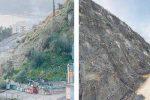Frana di Letojanni, cantiere in piena attività: rocciatori in azione