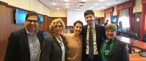 Concetta Castilletti, Francesca Colavita, Maria Rosaria Capobianchi con il ministro Roberto Speranza