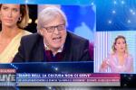 """Tv, lite accesa tra Sgarbi e Barbara d'Urso: """"Capra e incapace, la tua vita è inutile"""""""