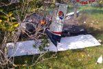 Piccolo aereo precipita nel Siracusano e prende fuoco, morti istruttore e allievo
